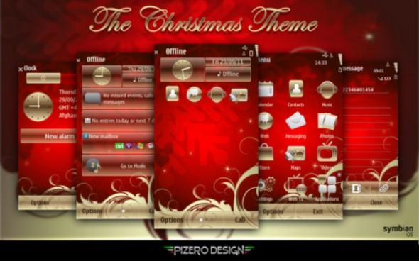 xmas pizero s40 590x368 Excelentes temas de Navidad para Symbian (S40, S60v3, v5, ^3 Anna y Belle)