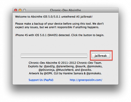 Jailbreak para iPhone 4S e iPad 2 con iOS 5.0.1 con Absinthe por fin disponible - ios-jailbreak-iphone4s-ipad2-absinthe