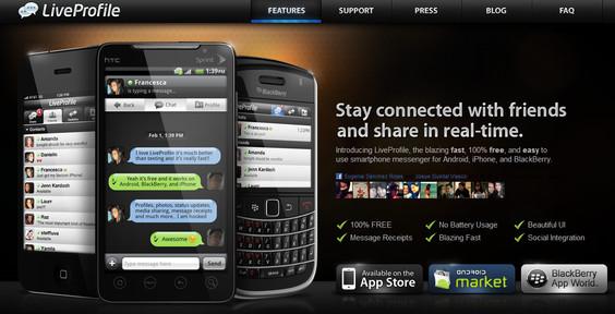 LiveProfile la sensación del momento en la mensajería instantánea móvil - liveprofile