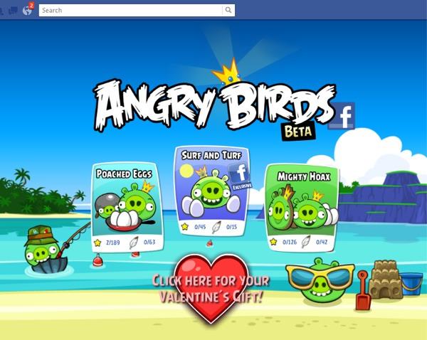angry birds facebook Ya puedes jugar Angry Birds en Facebook!