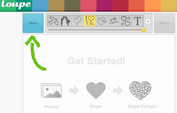 Crear collages con tus fotos de Facebook, Twitter e Instagram con Loupe - loupe-aplicacion-web