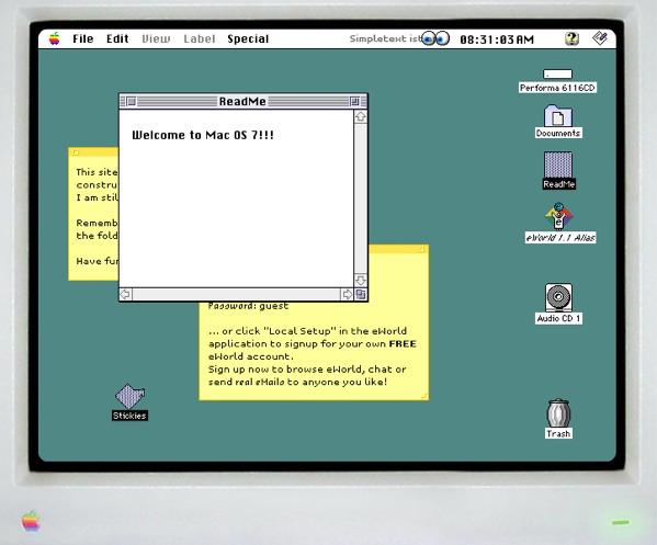 Simulador de Mac OS 7 hecho totalmente en Flash - mac-os-7-flash-emulator