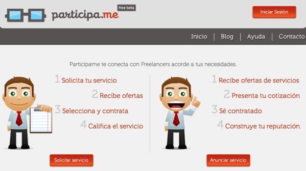 Participa.me una red social en donde podrás contactar Freelancers - participa-me-freelancer