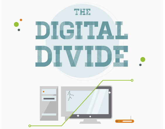 La brecha digital [Infografía] - the-digital-divide