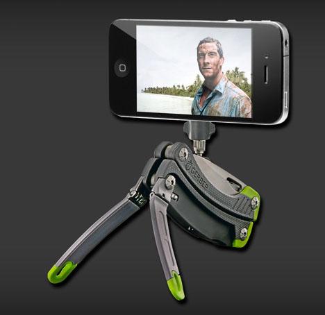 Una navaja con tripié para smartphone es el regalo geek ideal de San Valentín - tripod-swiss