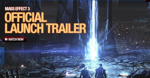 Mass effect 3 trailer lanzamiento Trailer del lanzamiento oficial de Mass Effect 3