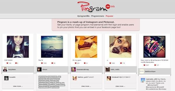 Pingram Pingram, la red social que fusiona Pinterest con Instagram