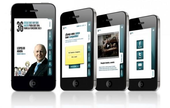 Espasa lanza una app de iPhone para promocionar el nuevo libro de Leopoldo Abadía - Presentacion-iPhone-590x376