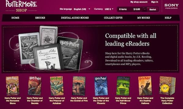 Los libros digitales oficiales de Harry Potter arriban en Pottermore - ebooks-harry-potter-pottermore