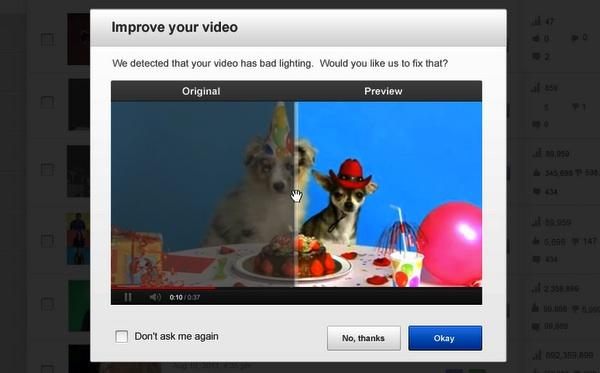 Youtube ahora mejora automáticamente los videos que subamos - mejorar-video-youtube