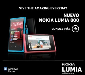 Nokia te regala un Lumia 800 en el concurso The 7 Amazing