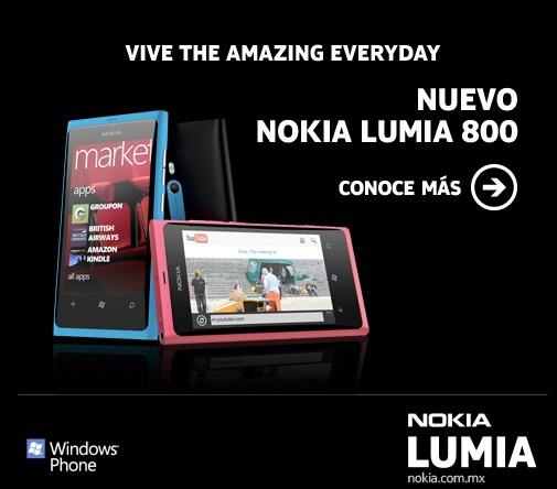 Nokia te regala un Lumia 800 en el concurso The 7 Amazing - nokia-lumia-800-concurso