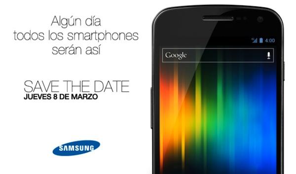 samsung galaxy nexus mexico El Samsung Galaxy Nexus será presentado en Mexico el próximo 8 de marzo