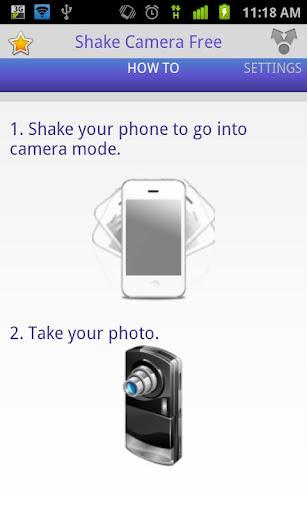 Shake Camera Free, activa la cámara de tu Android con un solo movimiento - shake-camera-how-to