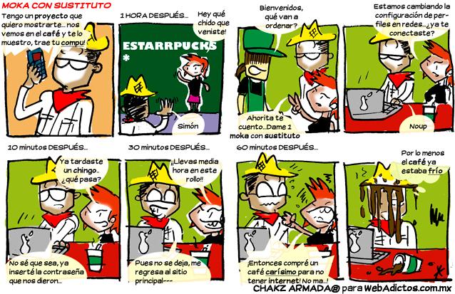 sin internet en un cafe Sin Internet en el café [Humor]