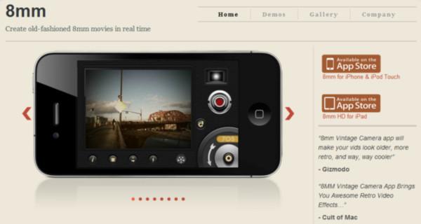 Videos retro en tu dispositivo iOS gracias a 8mm - 8mm-ios