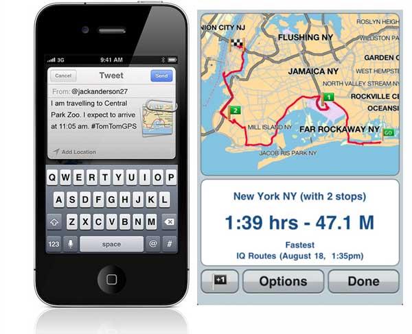 Tomtom iphone ipad La aplicación de navegación TomTom se actualiza y se hace social con Facebook y Twitter