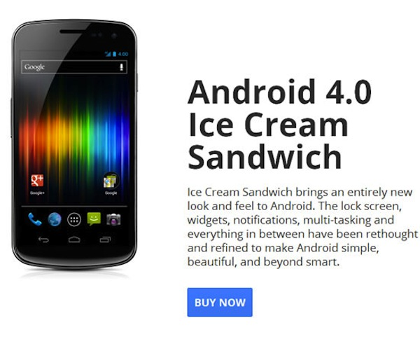 Samsung Galaxy Nexus debloqueado en venta oficialmente desde Google Play - google-nexus