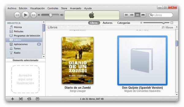 Cómo cambiar la portada de nuestros libros en iBooks - paso1