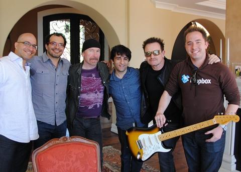Integrantes de la banda U2 invierten en Dropbox - u2-dropbox