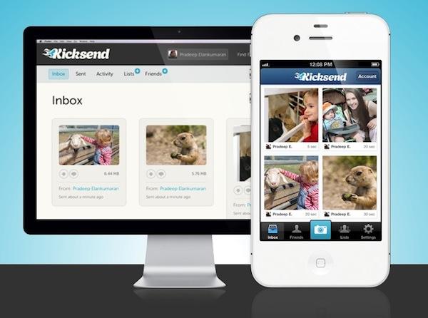 Kicksend, un servicio para compartir lotes de fotos, videos y documentos desde tu celular - Kicksend-app