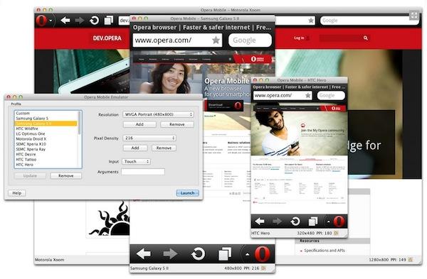 Opera mobile emulator Opera Mobile Emulator, visualiza el diseño móvil de tus sitios web