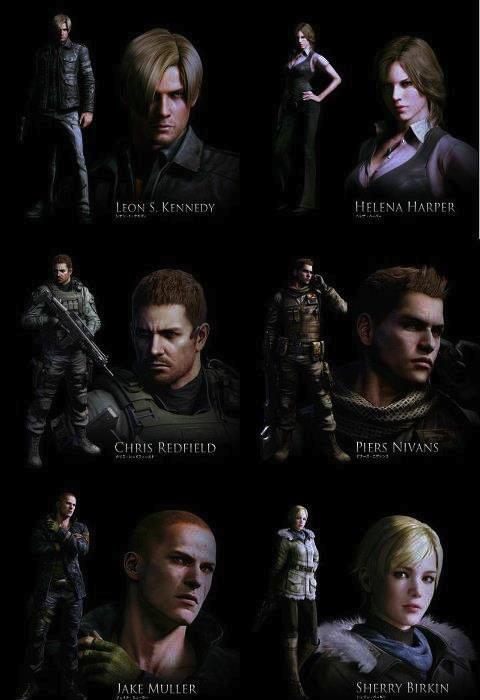 Nueva imagen de Resident Evil 6 con los principales protagonistas del juego - Resident-evil-6-personajes