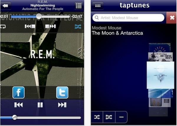 TapTunes, un reproductor musical para iOS diferente - Taptunes-reproductor-musical-ios