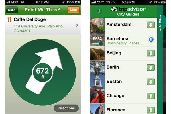 Conoce lugares de interés antes de viajar con TripAdvisor Offline City Guide - TripAdvisor-app