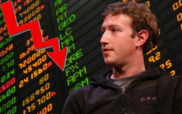 acciones facebook a la baja Las acciones de Facebook caen por debajo de los $30 dólares