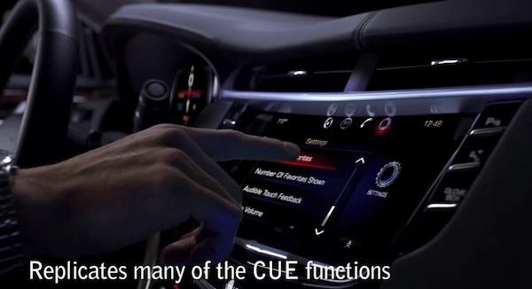 cadillac cue Los Cadillac XTS incluirán un iPad de regalo