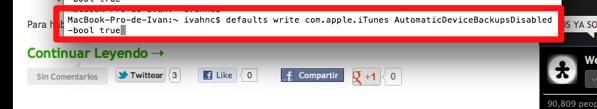 Cómo deshabilitar la copia de seguridad de iTunes al conectar un dispositivo con iOS [MAC] - deshabilitar-copia-seguridad-itunes-1