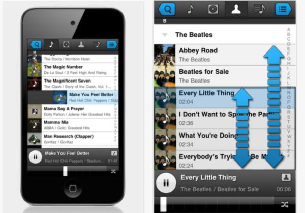 Escuchar música en iPhone / iPad - panamp-reproductor-musica-iphone