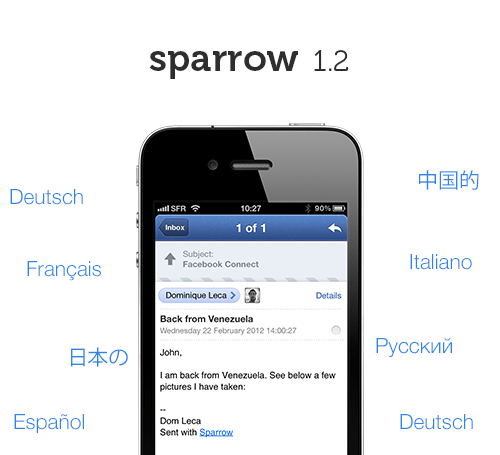 tumblr m409qhJCea1qbptnpo1 500 Sparrow para iPhone se actualiza pero sin notificaciones Push