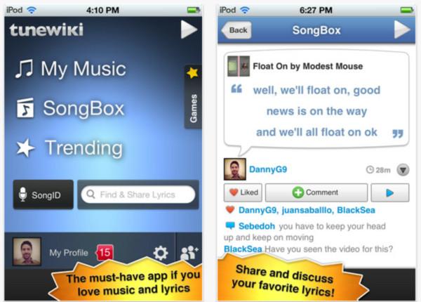 TuneWiki reproduce tus canciones en el iPhone con letras tipo karaoke - tunewiki-iphone-ipod