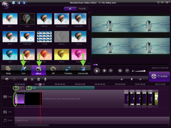 Crea videos impresionantes con Wondershare Video Editor