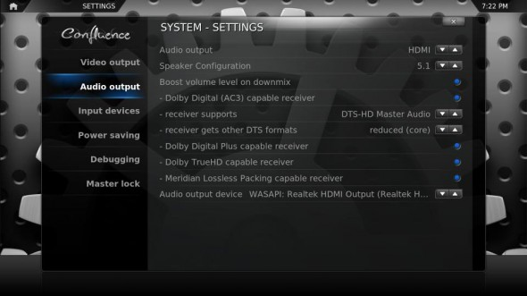 xbmc 590x331 Cómo habilitar audio DTS HD MA y Dolby TrueHD en XBMC