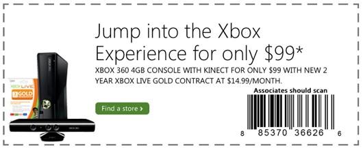 Es oficial, Microsoft vende la Xbox 360 en 99 dólares con contrato de 2 años - xbox-360-kinect-contrato