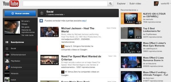 Activar nueva interfaz youtube 1 Como activar la nueva interfaz de Youtube en Chrome