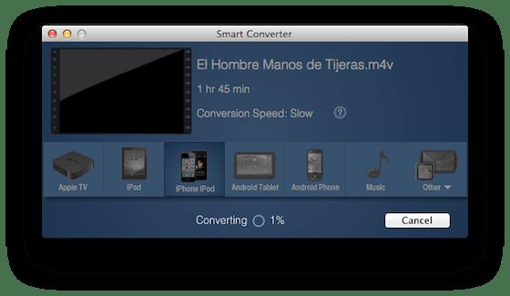 Captura de pantalla 2012 06 27 a las 18.41.20 Smart Converter, un práctico y gratuito convertidor de videos