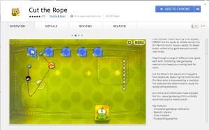Cut the Rope disponible en la Chrome Store