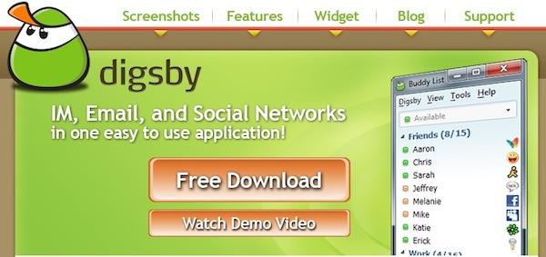 Messenger online, algunas opciones - Digsby