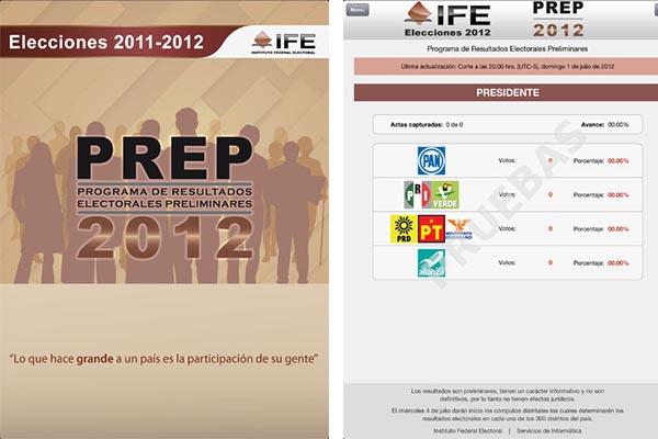 Aplicación para consultar los resultados preliminares de las elecciones 2012 es presentada por el IFE - Elecciones-2012-ife-ios