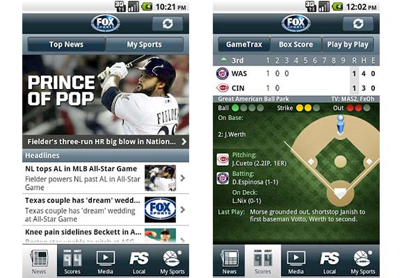 Fox sports app android Ver resultados en vivo de tus equipos favoritos con Fox Sports Mobile