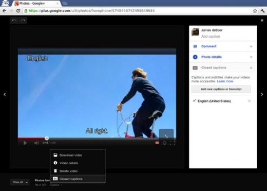 Google+ ahora permite introducir subtítulos a los videos que compartamos - Google-plus-video-subs