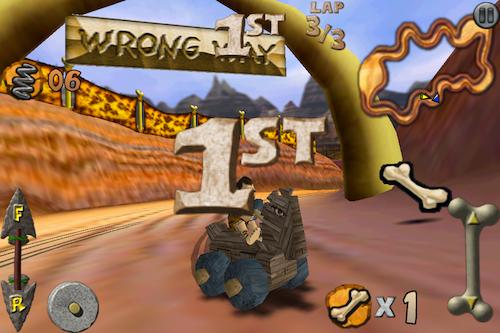 Cro-Mag Rally, un juego al estilo Mario Kart en tu iPhone/iPod - IMG_2503