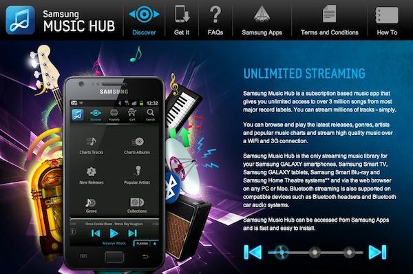 Samsung Galaxy SIII vendrá acompañado del servicio musical llamado Music Hub - Samsung-music-hub