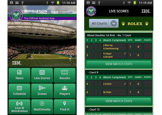 Sigue en vivo Wimbledon desde tu iPhone y Android - Wimbledon-app-android-iphone