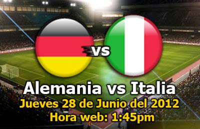 Alemania vs Italia en vivo