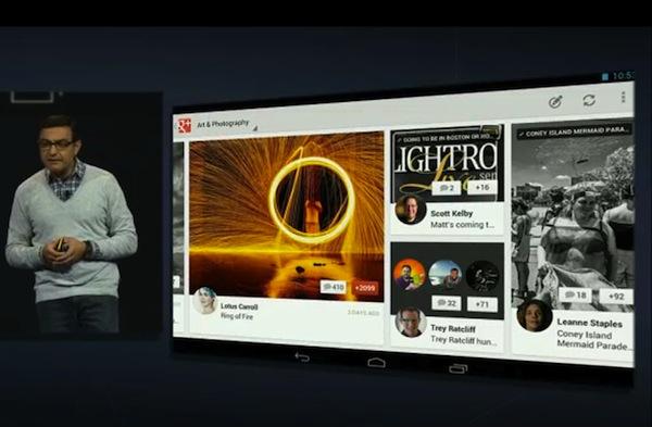 Aplicación de Google+ para tabletas Android disponible para descargar, versión para iPad en camino